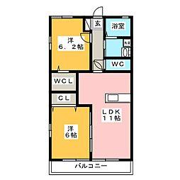 ブランミュールIII[2階]の間取り