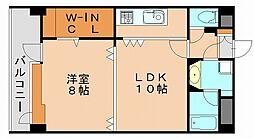ステイツ天神東II[7階]の間取り