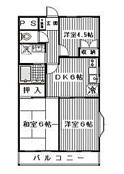 リバストーン神大寺II[201号室]の間取り