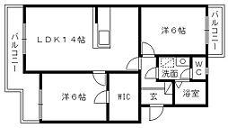 マンションストークV[3階]の間取り