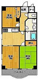 エバーモア北神戸[3階]の間取り