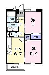 コーポウエハラ[0203号室]の間取り