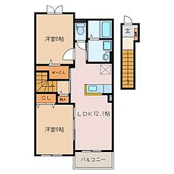 Y PLACE I[2階]の間取り