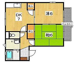 多田ハイツC棟[2階]の間取り