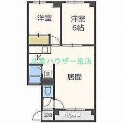 北海道札幌市東区北二十八条東2丁目の賃貸マンションの間取り