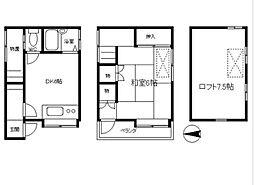 [一戸建] 神奈川県横浜市中区簑沢 の賃貸【/】の間取り