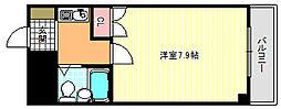 大阪府大阪市東住吉区湯里1の賃貸マンションの間取り