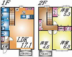 兵庫県神戸市東灘区住吉山手4丁目の賃貸アパートの間取り
