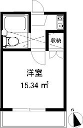 神奈川県大和市福田3丁目の賃貸アパートの間取り