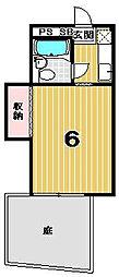 上柳ハウス[101号室]の間取り
