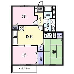 コモド・カーサ B(アパート) 1階3DKの間取り