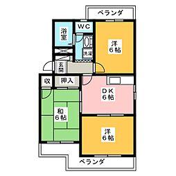 ファームビレッジ[2階]の間取り