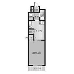 パルロイヤル東古松[4階]の間取り