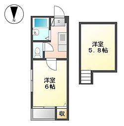 コンフォート黒川[1階]の間取り