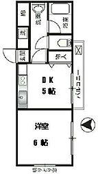 カサルージュ三軒茶屋[2階]の間取り