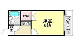 アリーナツムラ[2O2号室号室]の間取り
