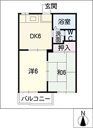 エステート篠ノ風[2階]の間取り