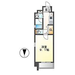 gs丸の内(ジ−エスマルノウチ)[11階]の間取り