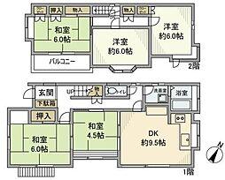 [一戸建] 千葉県市川市宮久保5丁目 の賃貸【/】の間取り