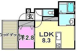 メゾン小坂[E105 号室号室]の間取り