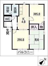 フォーレス西田I[1階]の間取り
