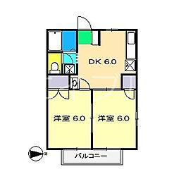 グリーンハウス(一宮徳谷)[1階]の間取り