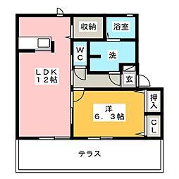 メゾン花菖蒲[1階]の間取り