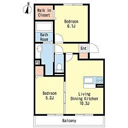 サリジエ C棟[2階]の間取り