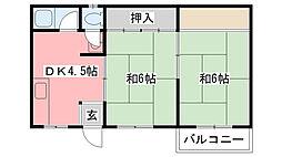 福岡マンション[302号室]の間取り