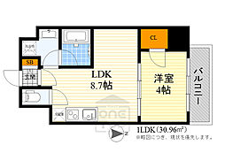 Osaka Metro御堂筋線 江坂駅 徒歩7分の賃貸マンション 5階1LDKの間取り