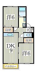 サンハイムS-A[1階]の間取り