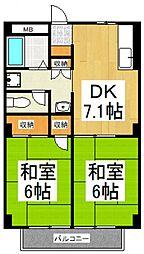 細田コーポ[2階]の間取り