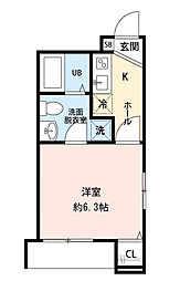 CRESIA松戸[103号室]の間取り
