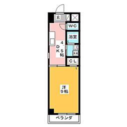 カーサフィーノ瑞穂[3階]の間取り