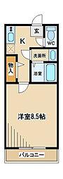 東京都府中市美好町1丁目の賃貸アパートの間取り