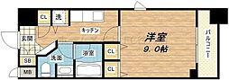 大阪府大阪市中央区久太郎町1丁目の賃貸マンションの間取り