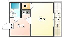 フレールナカノ[5階]の間取り