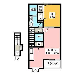 モデルノ・アロッジオI[2階]の間取り