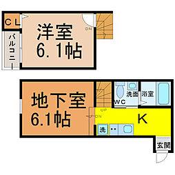 stage内田橋[105号室]の間取り