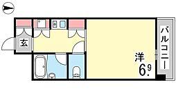 ウェルコート岡本[308号室]の間取り