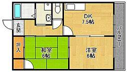 ガーデンハウス宝塚A[101号室]の間取り