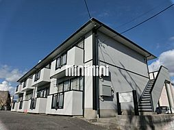 愛知県岡崎市矢作町字金谷の賃貸アパートの外観