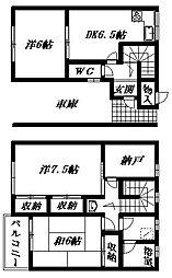 [テラスハウス] 静岡県浜松市南区本郷町 の賃貸【/】の間取り