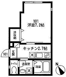 カサート テラ[1階]の間取り