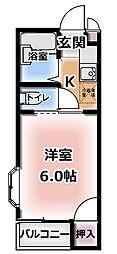 プレアール古川橋II[2階]の間取り