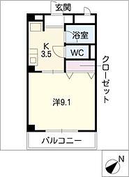 ハイツKANBE[2階]の間取り