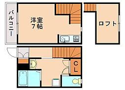 ピュアフリー高宮I[2階]の間取り