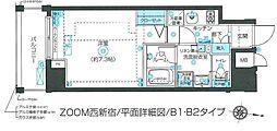 ZOOM西新宿 5階1Kの間取り