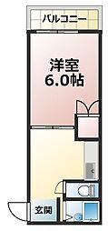 第3葵ハイツ[3階]の間取り