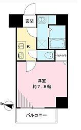 Osaka Metro谷町線 天神橋筋六丁目駅 徒歩8分の賃貸マンション 7階1Kの間取り